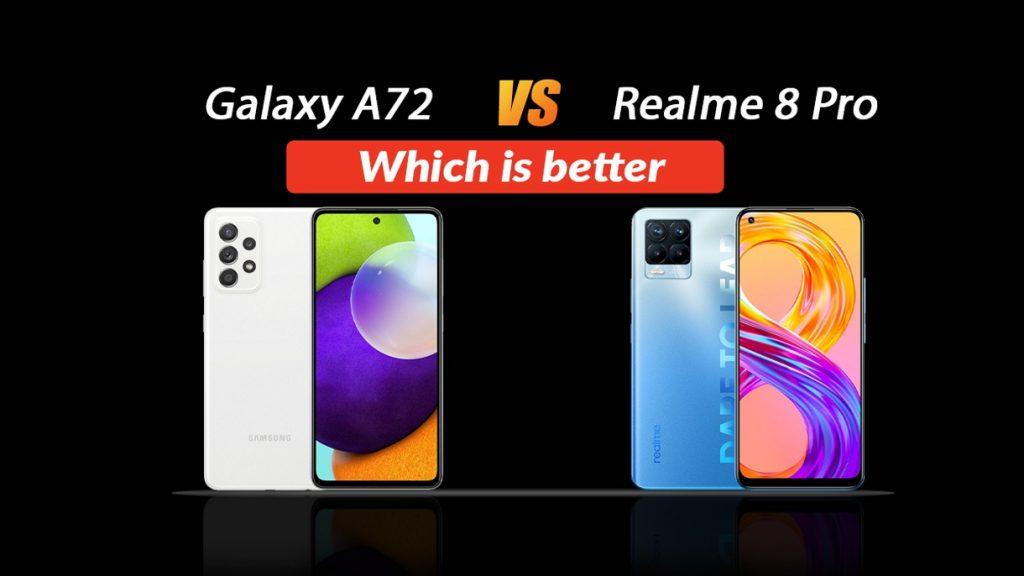 Realme 8 Pro VS Samsung Galaxy A72