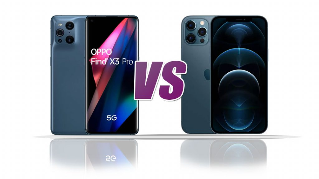 Comparison of iPhone 12 Pro Max and Oppo Find X3 Pro