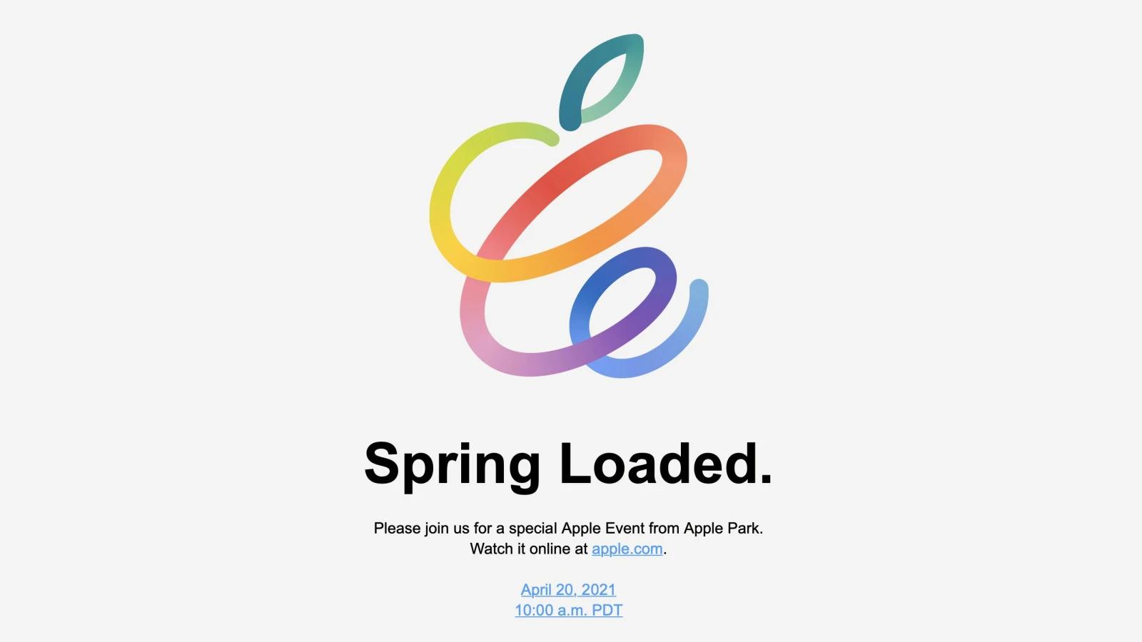 Apple Spring Loaded event
