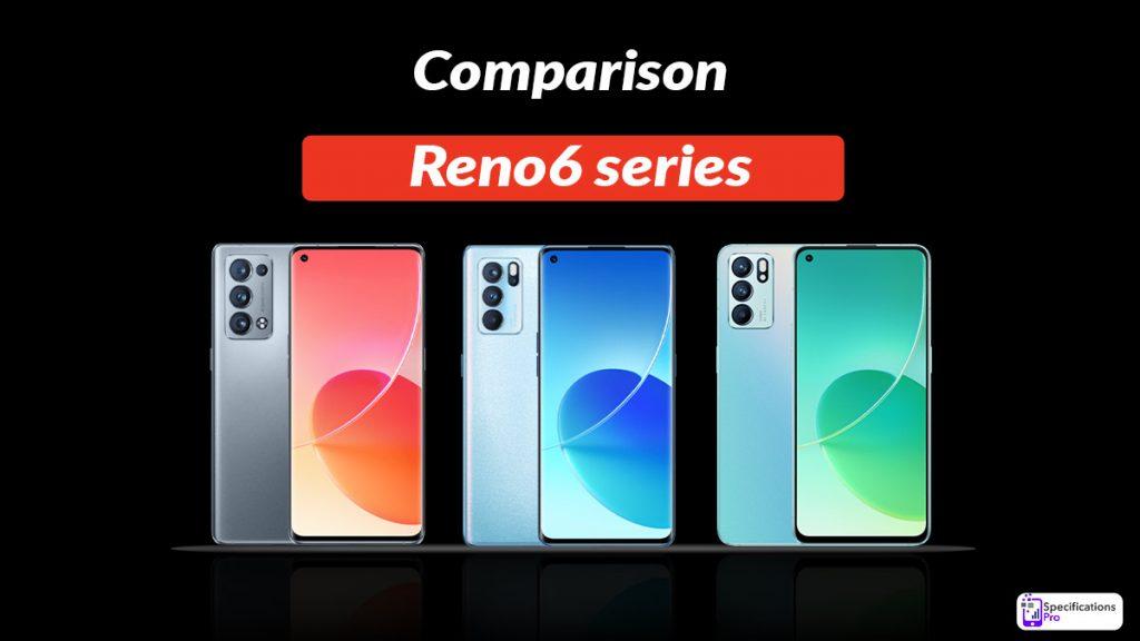 Comparison Reno6 series